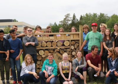 Pollinator Hotel, Lacombe Composite High School